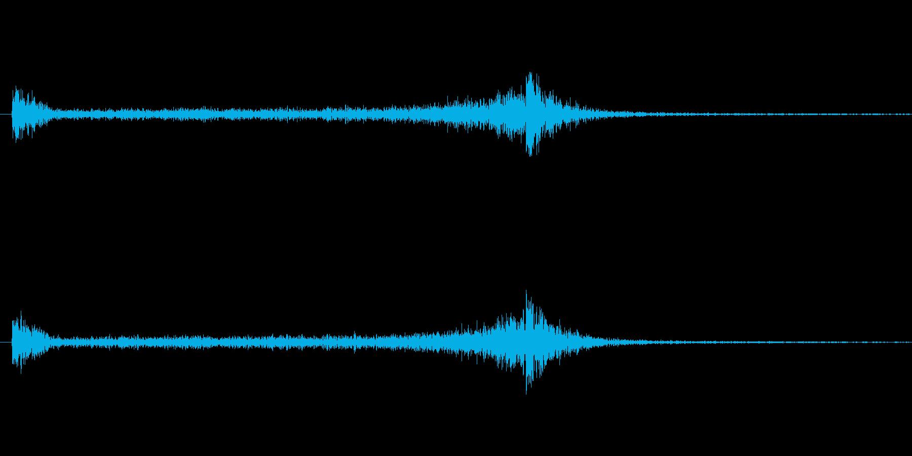 6秒間のドラムロール(大太鼓)の再生済みの波形