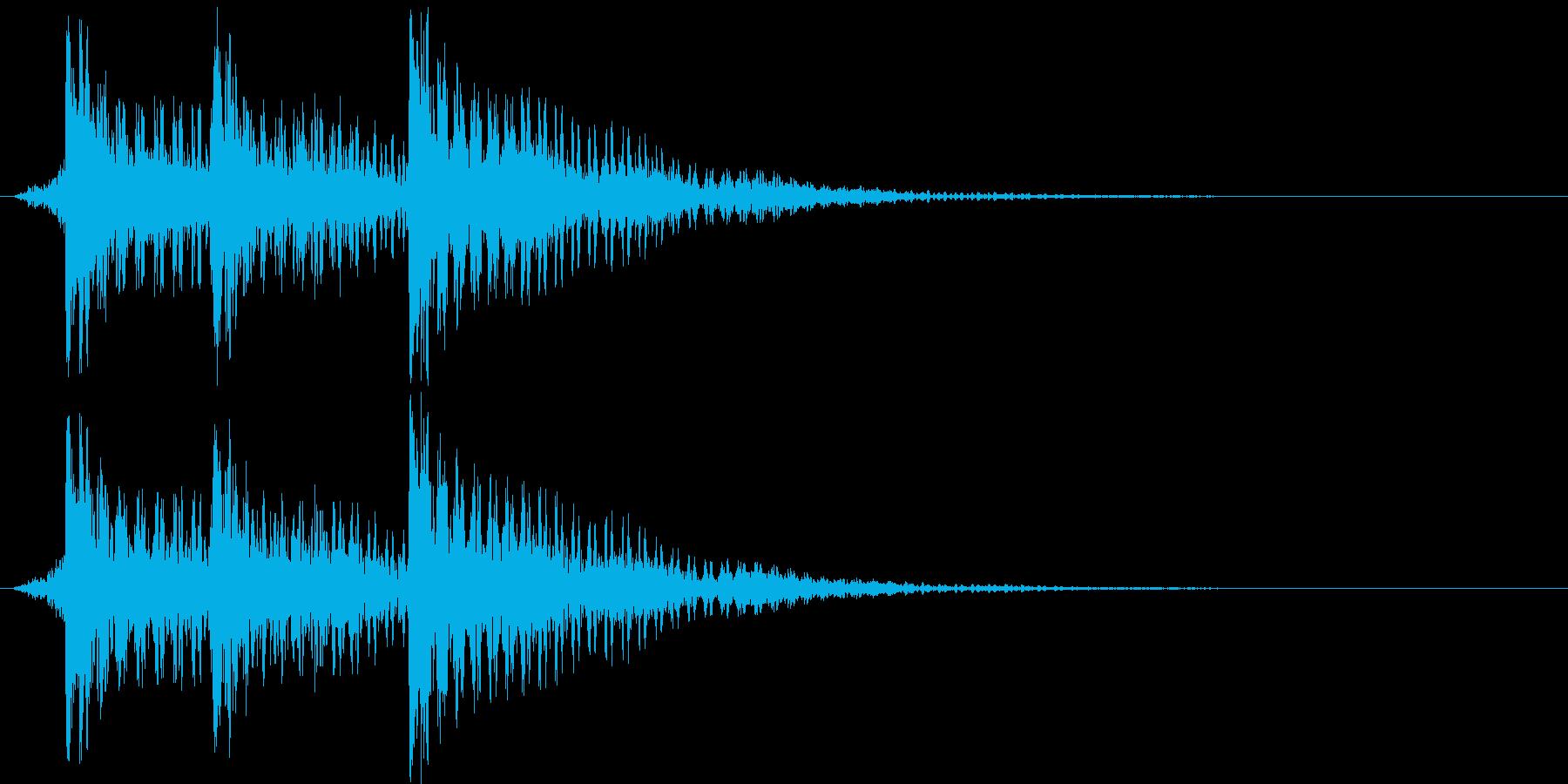 スマホアプリなどで使えるSE イメージ…の再生済みの波形
