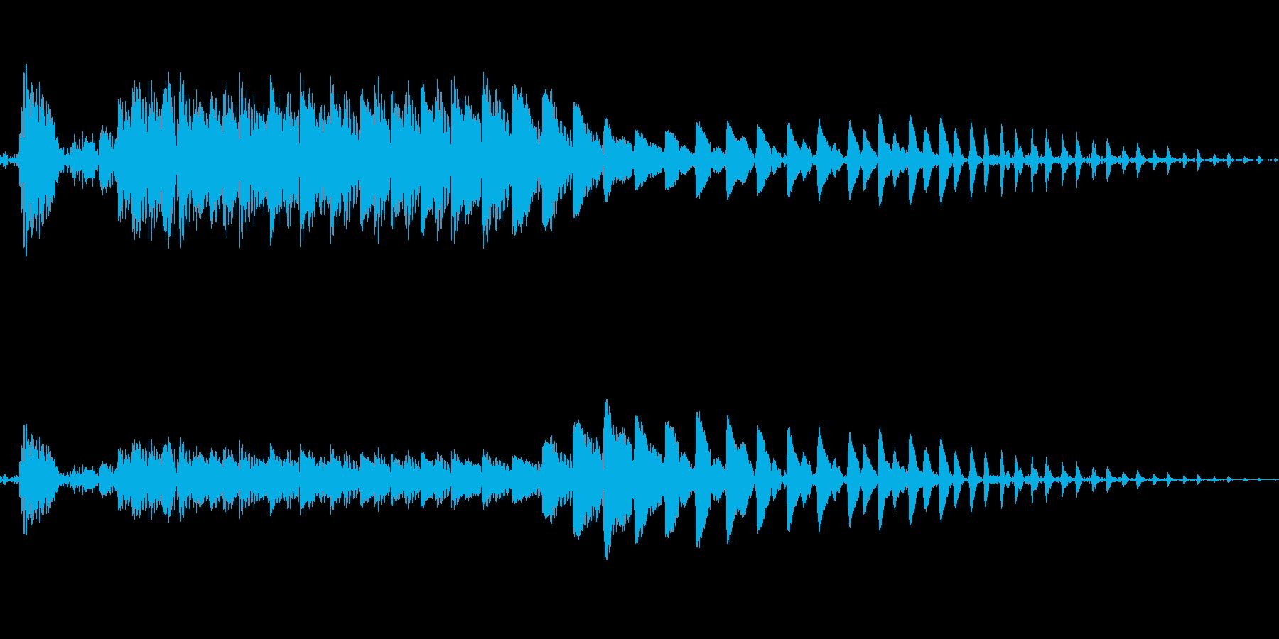 ポイ〜ン!コミカルなジャンプ効果音!02の再生済みの波形