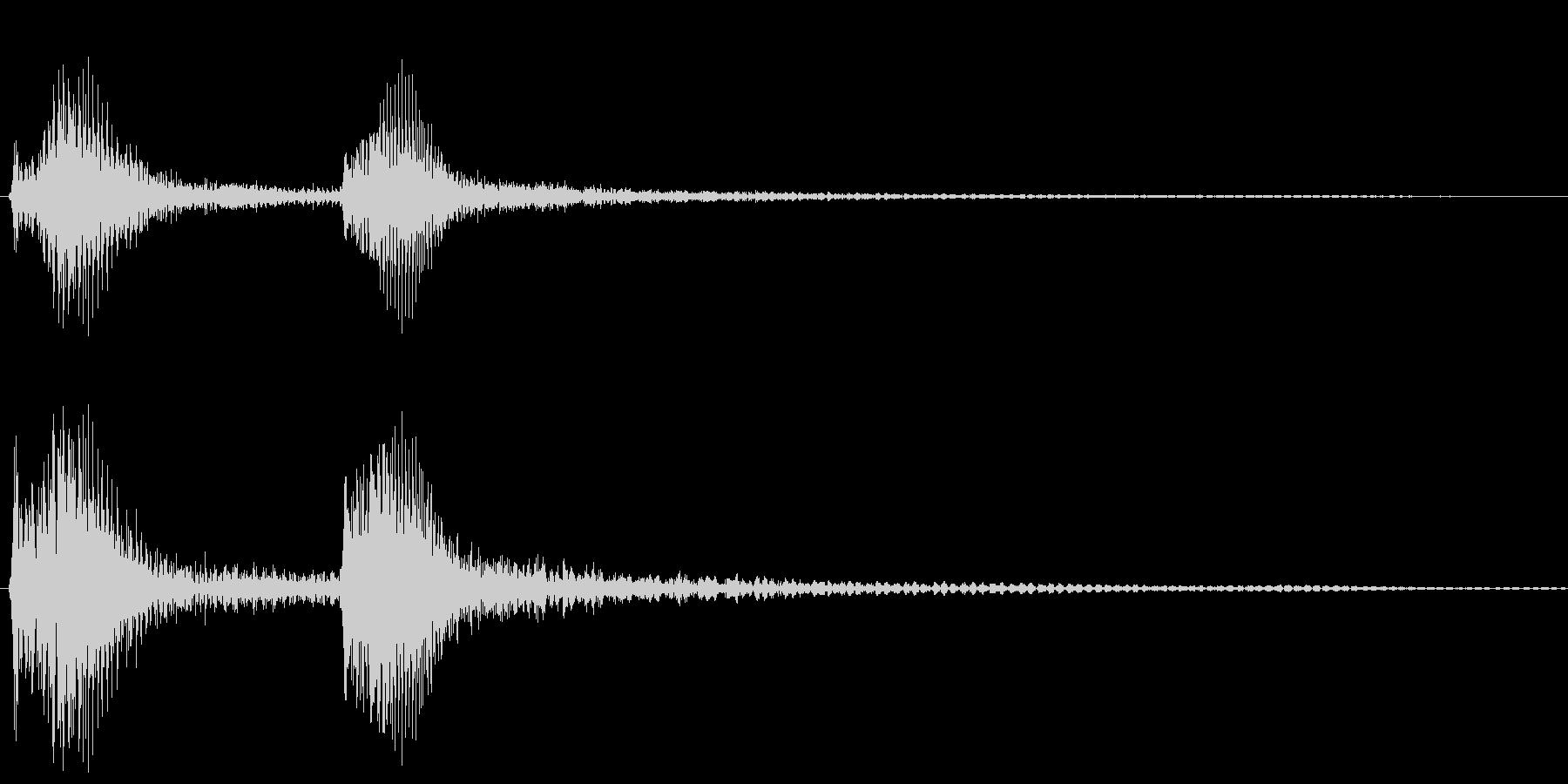 チャンチャン・オチの音(低)の未再生の波形