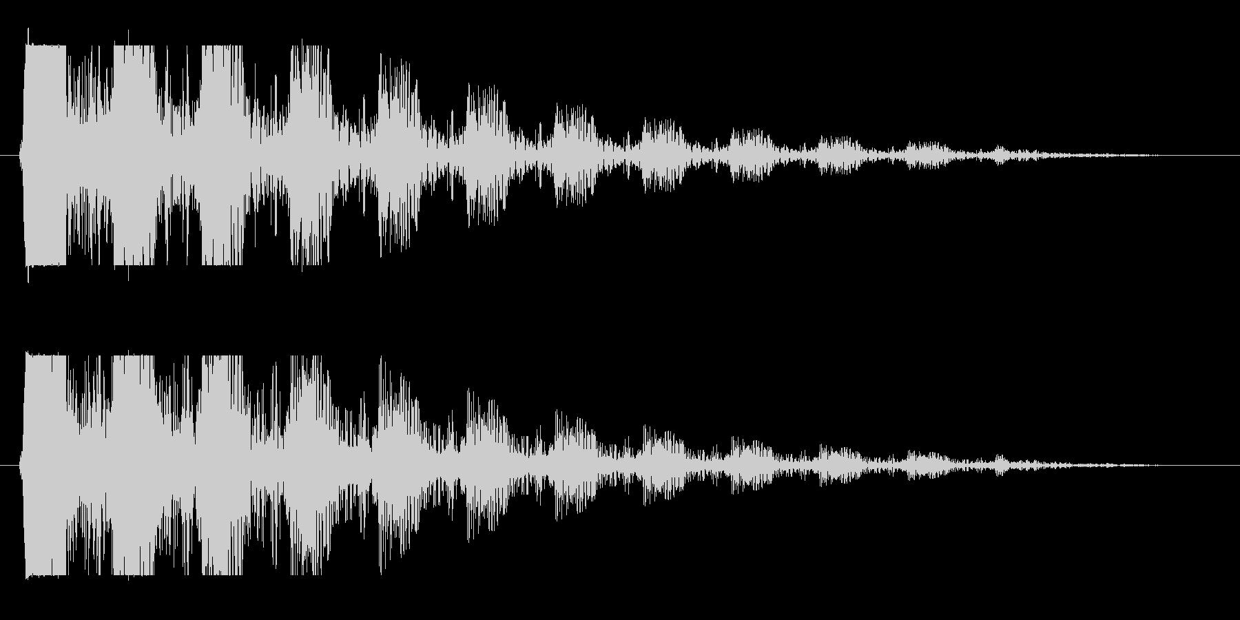 ドン…(エコーをかけつつ次第に消える音)の未再生の波形