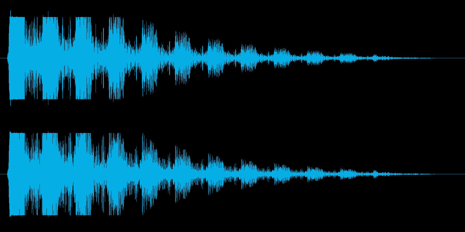 ドン…(エコーをかけつつ次第に消える音)の再生済みの波形