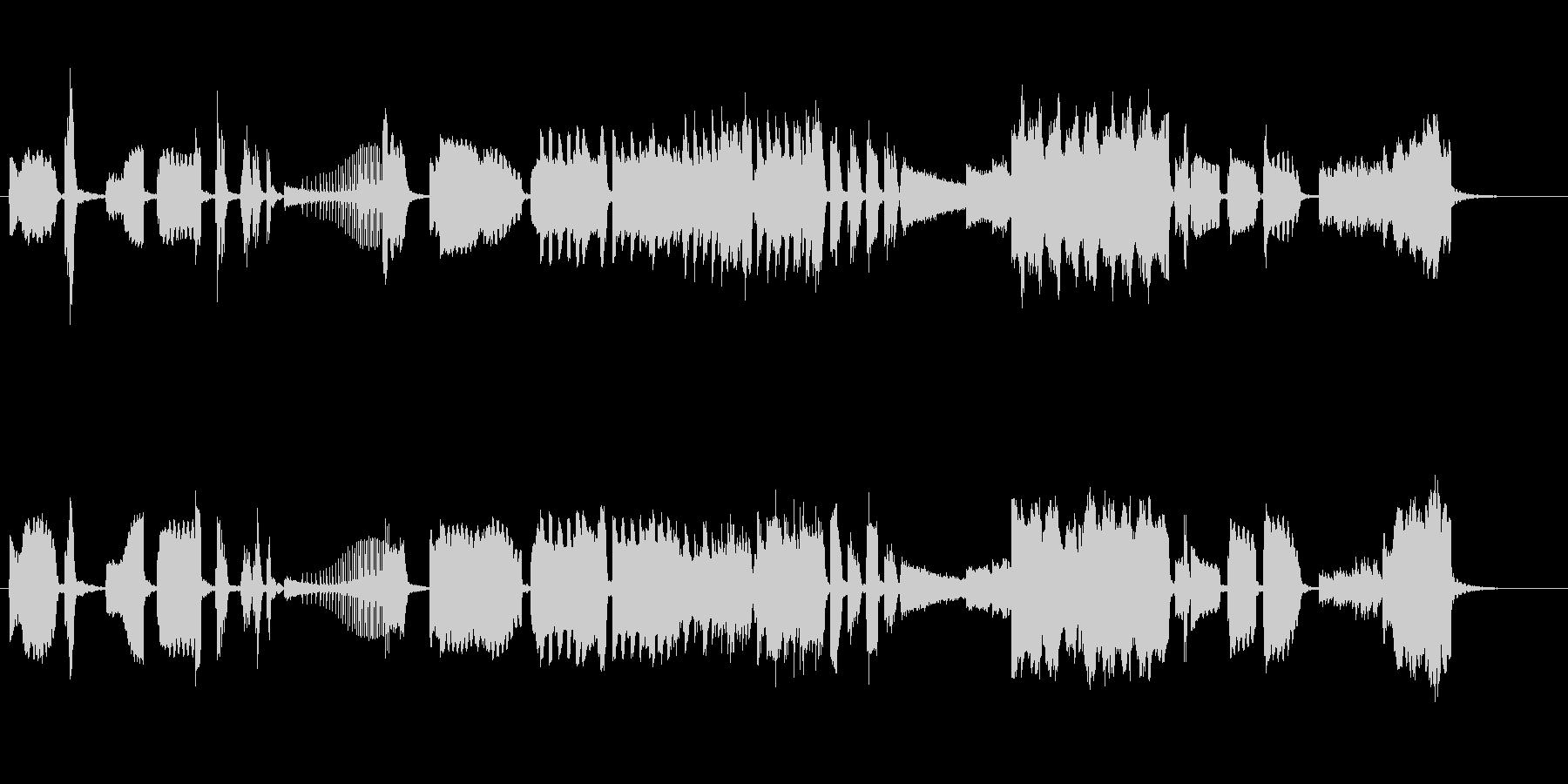 現代音楽風の室内楽曲の未再生の波形