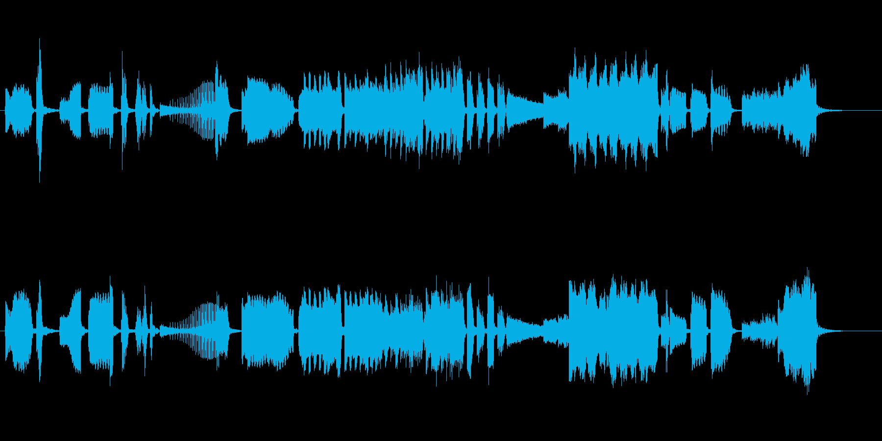 現代音楽風の室内楽曲の再生済みの波形