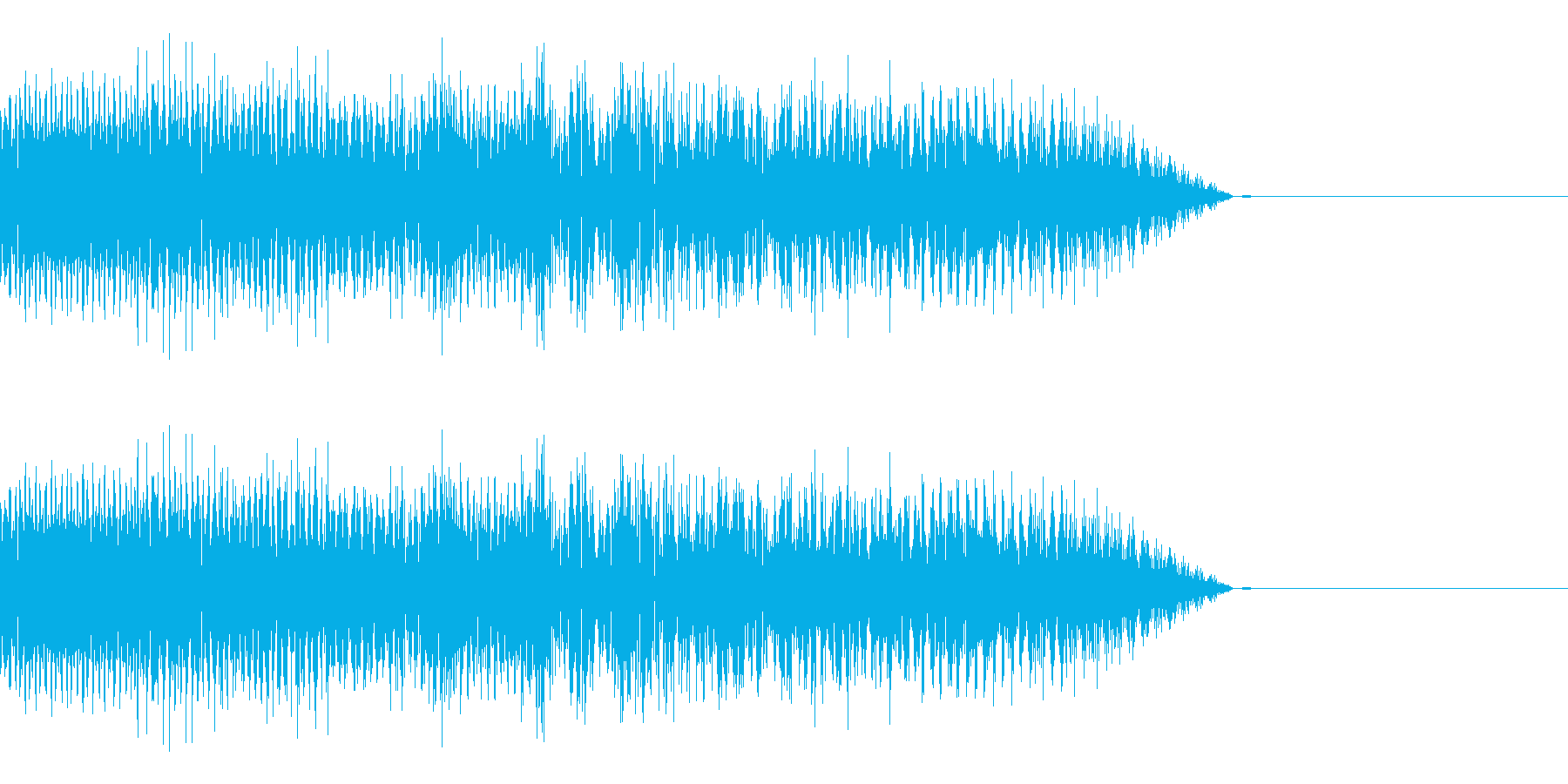 チップチューン落下 ピューン チャララの再生済みの波形