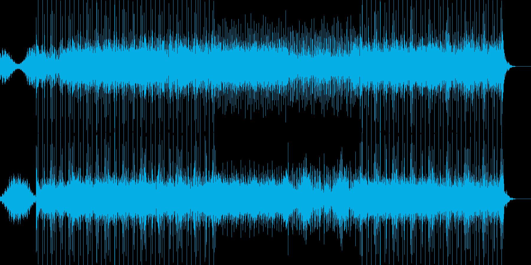 壮大で未来的で切ないBGMの再生済みの波形
