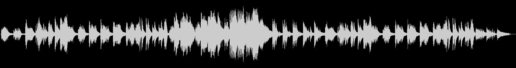 曖昧とした気だるげなピアノBGMの未再生の波形
