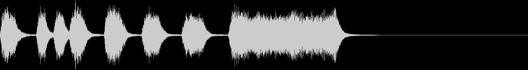 シンプル トランペット ファンファーレFの未再生の波形