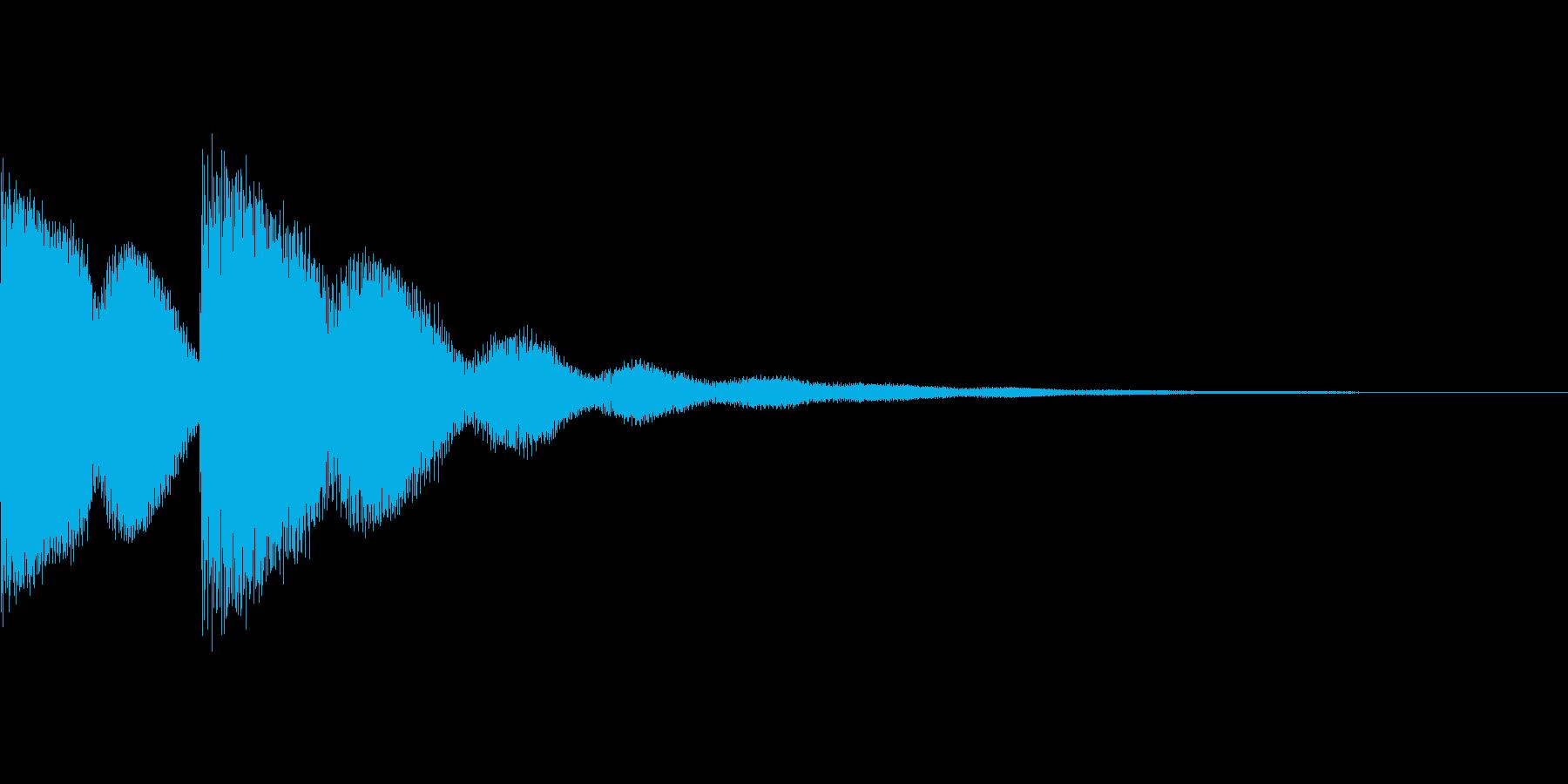 正解の音の再生済みの波形