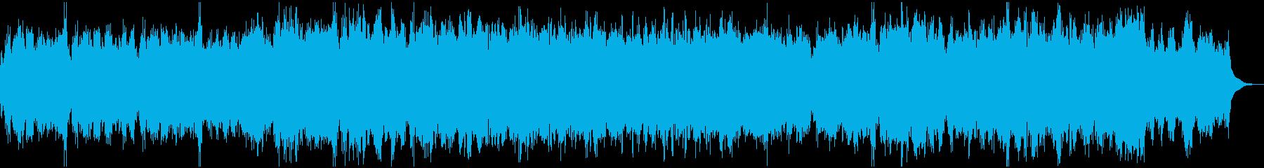 弦楽にオルガンと合唱を入れた大編成の曲の再生済みの波形