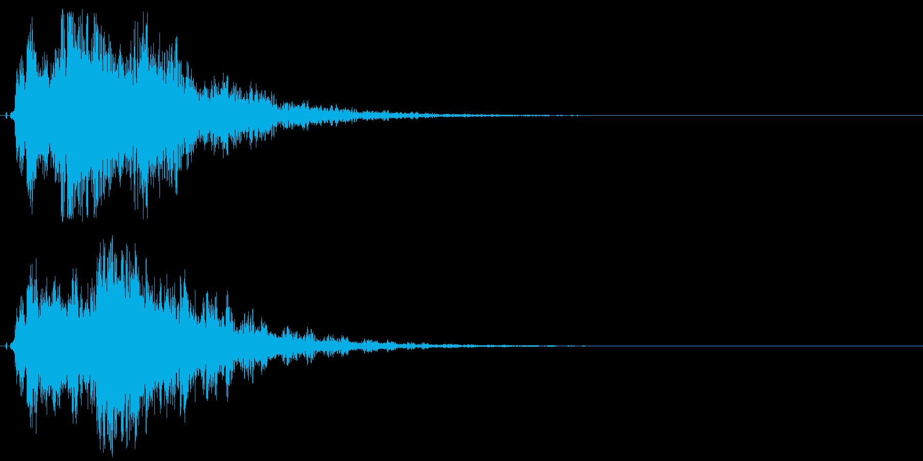 シャキーン!ド派手なインパクトに最適24の再生済みの波形