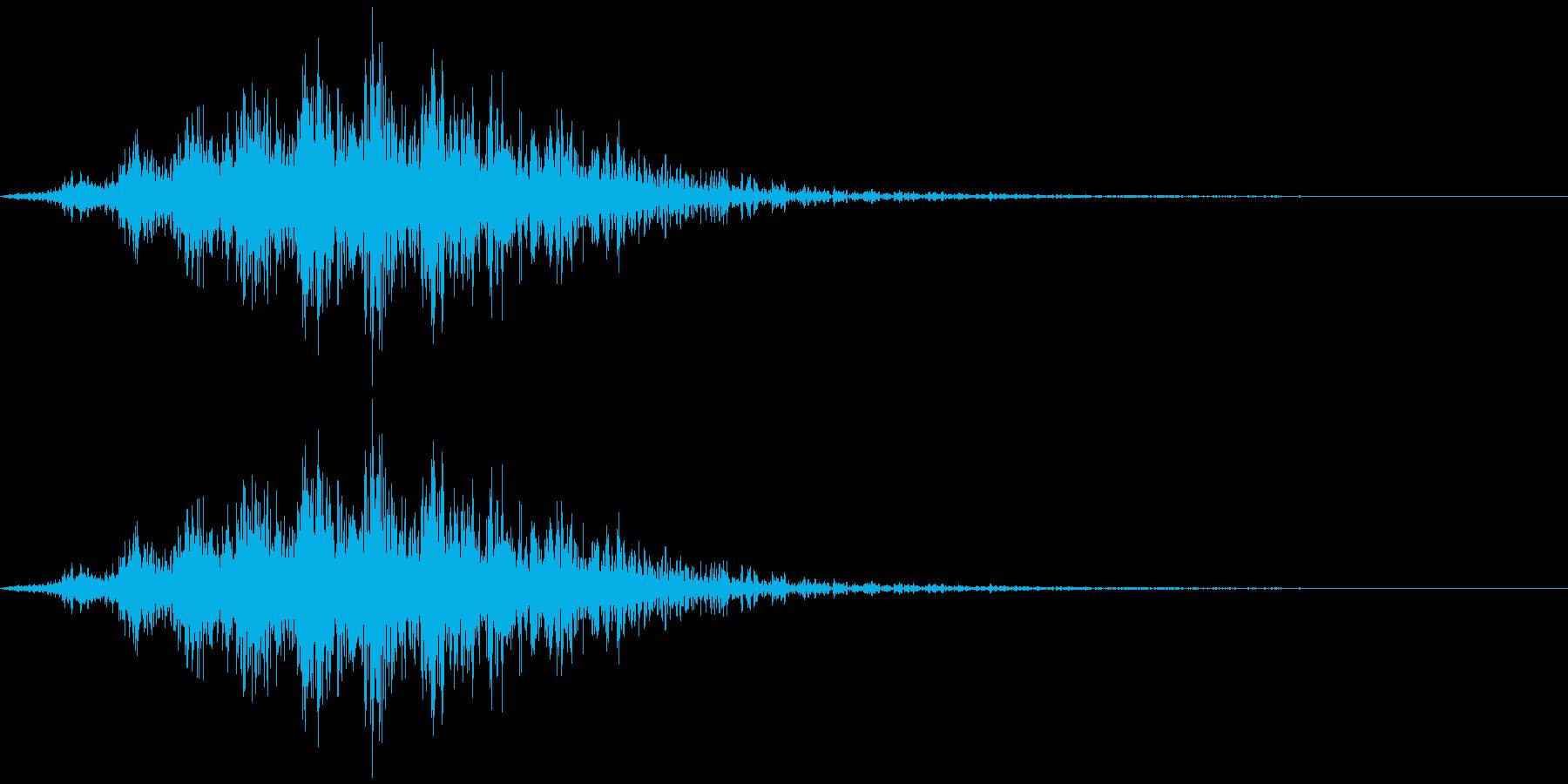 飛んでいく、横切る音1の再生済みの波形