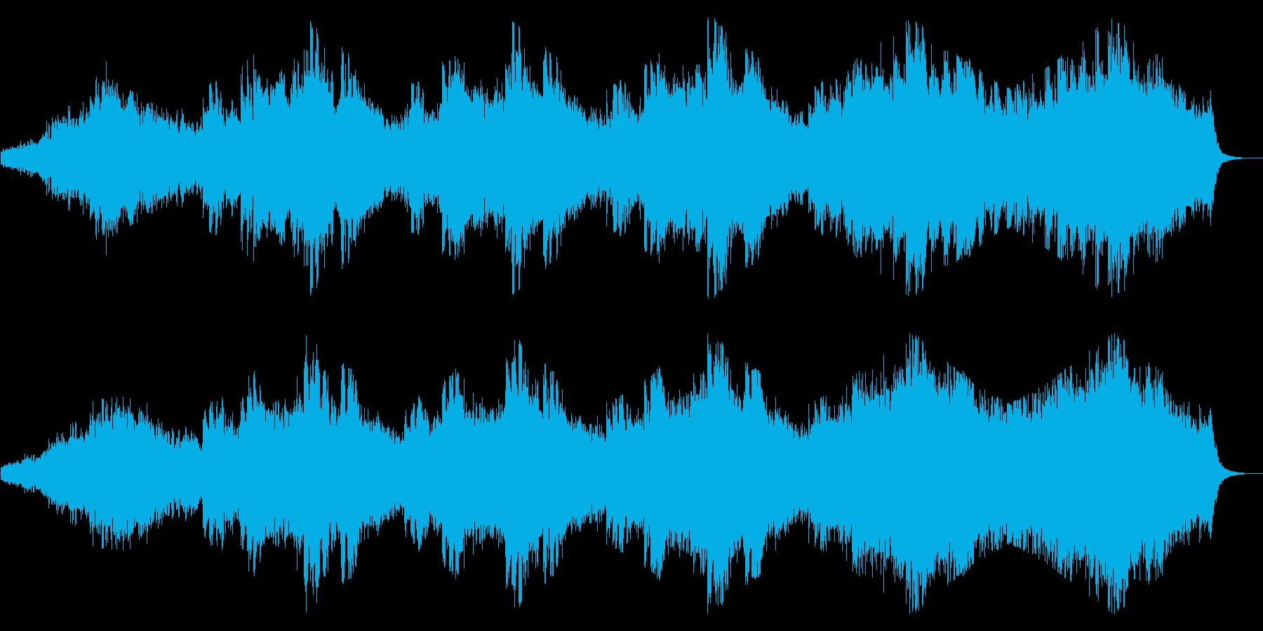 優しく静かなヒーリング系BGMですの再生済みの波形