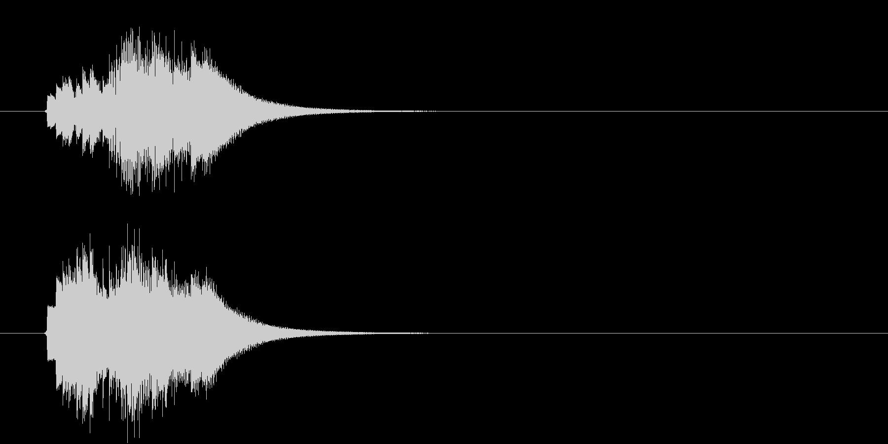 キラキラ、ピロピロ 上昇音の未再生の波形