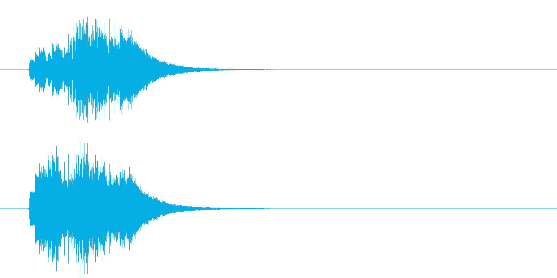 キラキラ、ピロピロ 上昇音の再生済みの波形