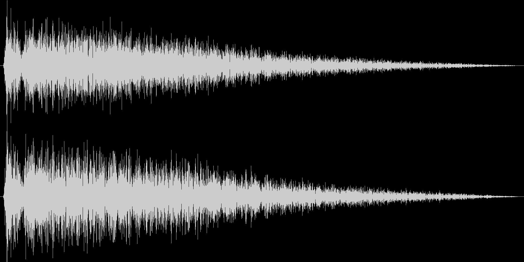 ショックを受ける(ピアノでガガーン)の未再生の波形