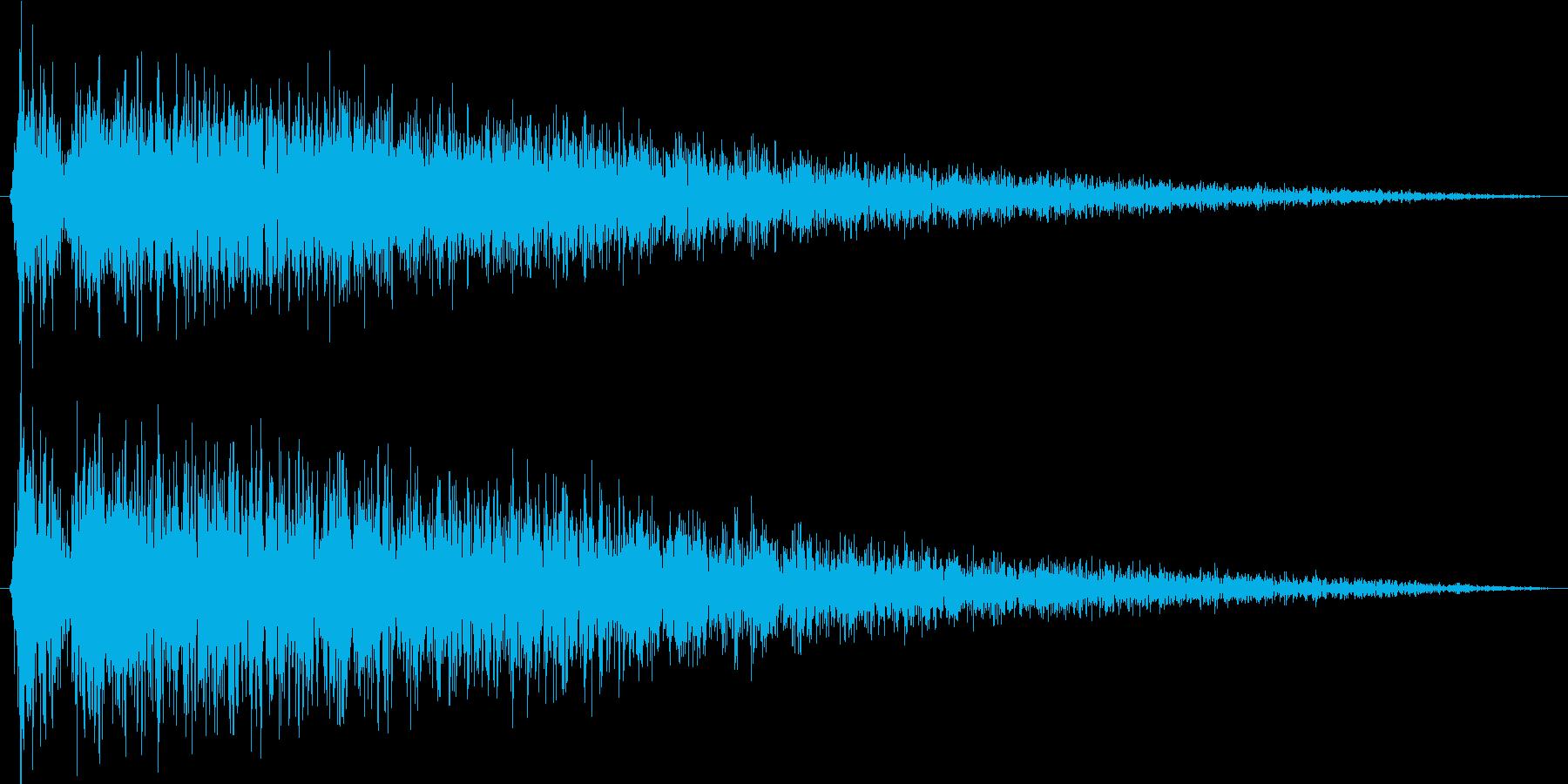 ショックを受ける(ピアノでガガーン)の再生済みの波形