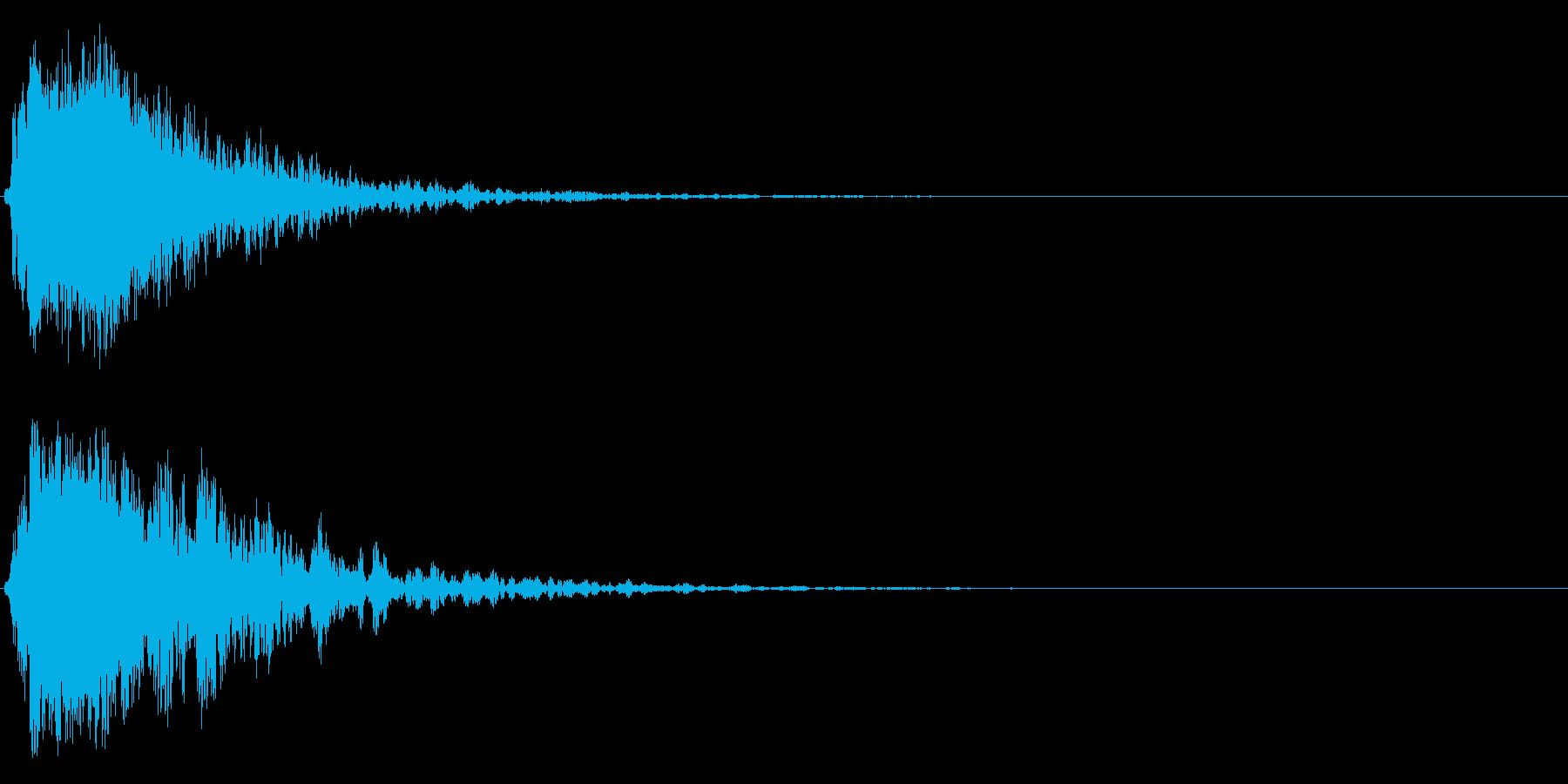 シャキーン!ド派手なインパクトに!5cvの再生済みの波形
