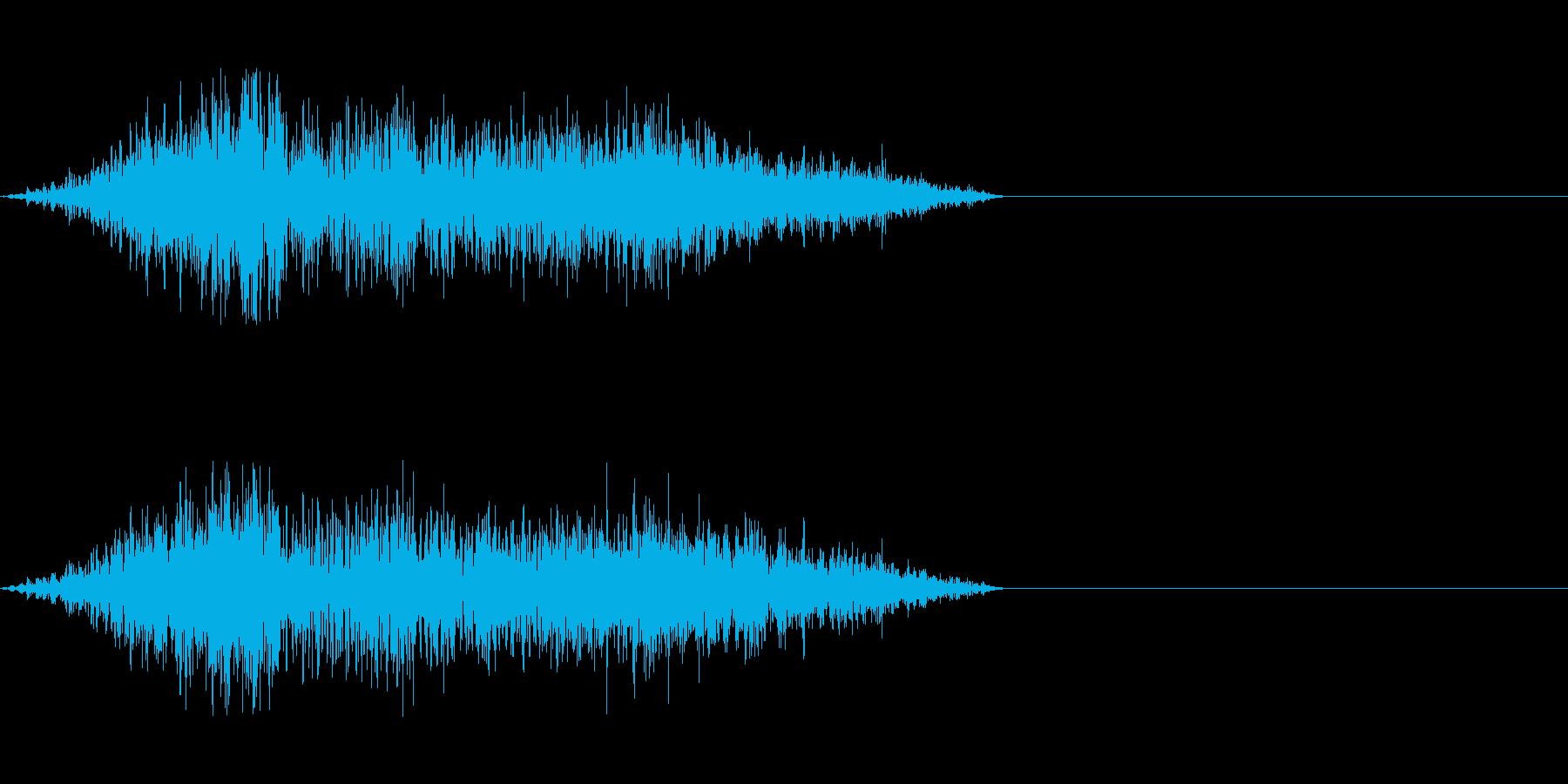 大きめなモンスターの鳴き声の再生済みの波形