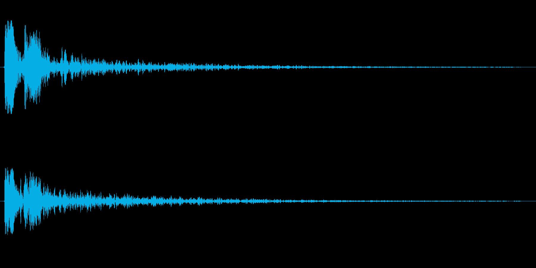ピチョーン(機械的な水滴の音)の再生済みの波形