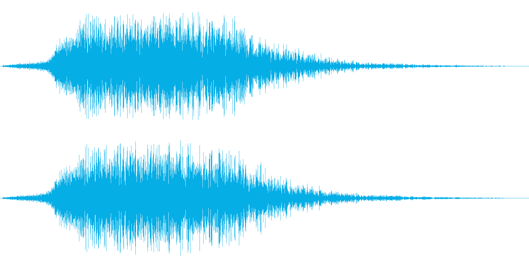 ヒューン↓(暗めの低い効果音)の再生済みの波形