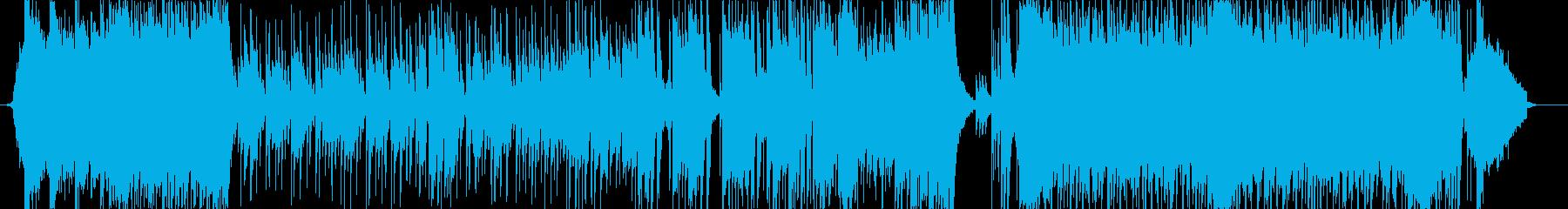 アニメOPのような明るく前向きなポップスの再生済みの波形