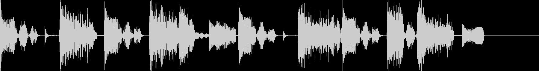 エレピとビートのHipHop風ジングルの未再生の波形