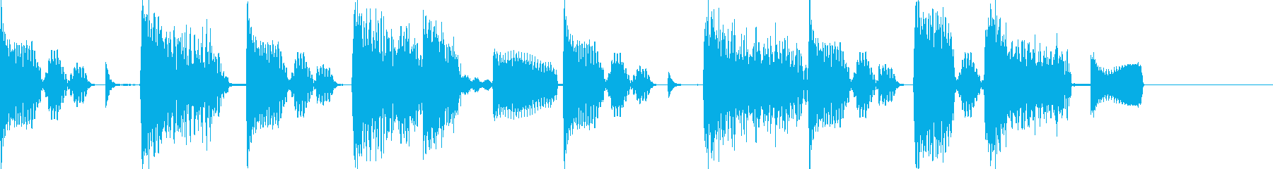 エレピとビートのHipHop風ジングルの再生済みの波形