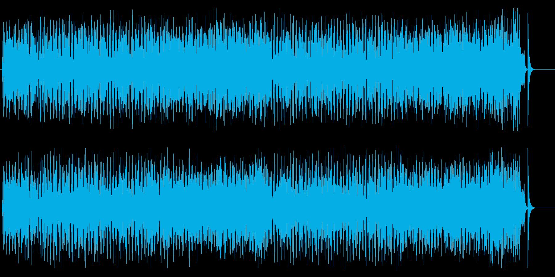 かわいくコミカル素朴でお洒落なポップスの再生済みの波形