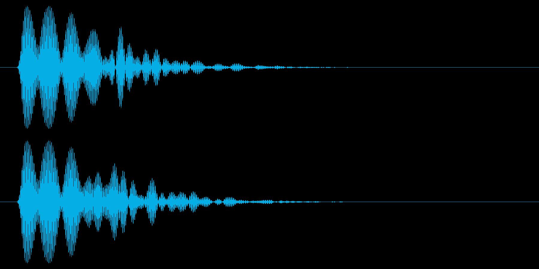 ボンッ(叩く)短めの音の再生済みの波形