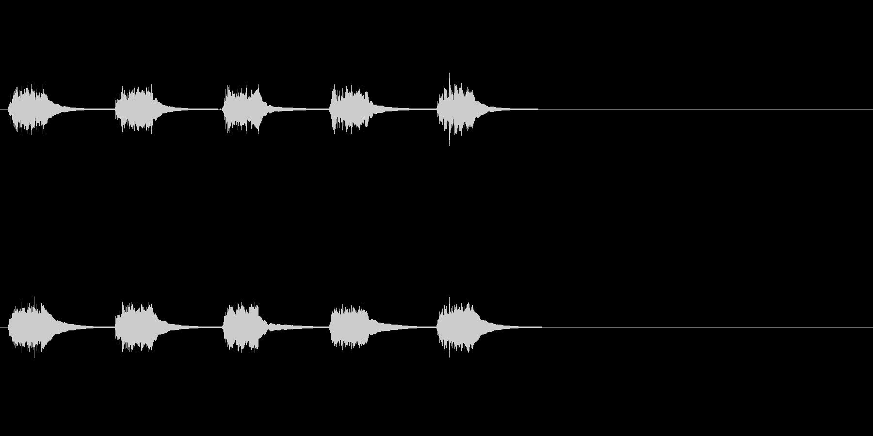 黒電話 (5回呼び出し音)の未再生の波形