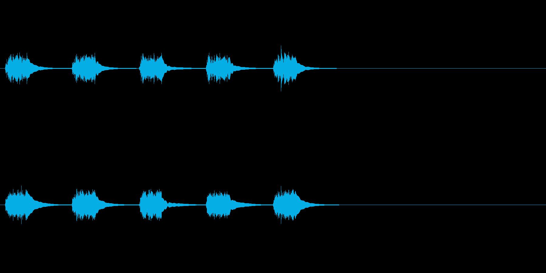 黒電話 (5回呼び出し音)の再生済みの波形