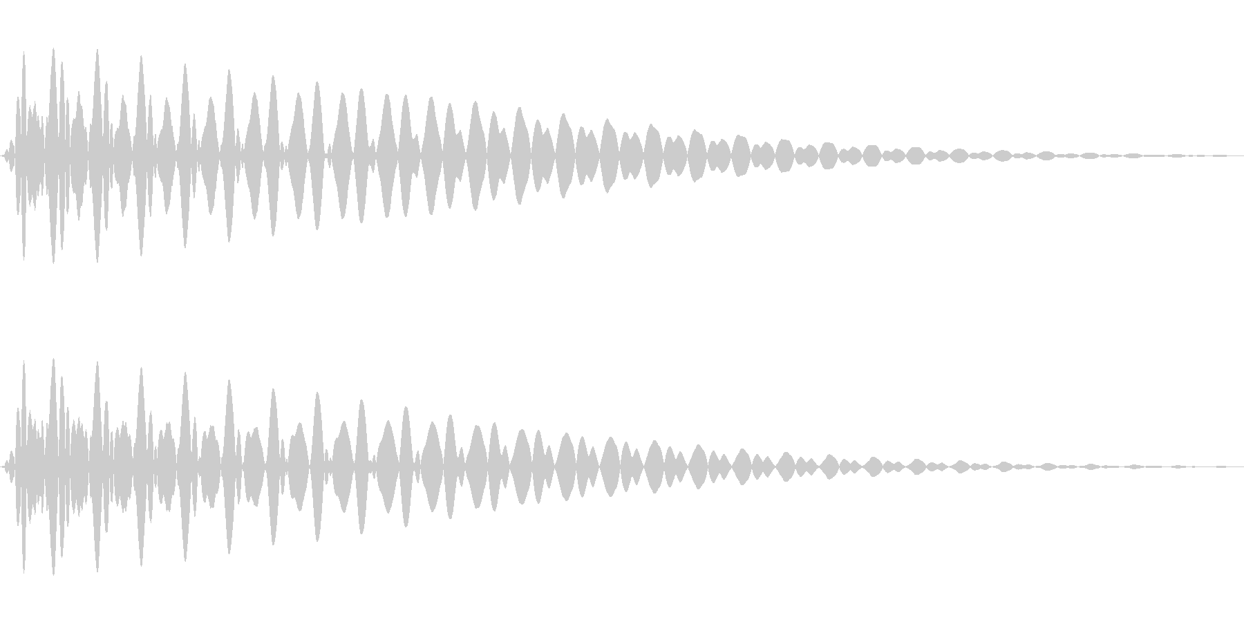 PureTouch アプリ用タッチ音71の未再生の波形