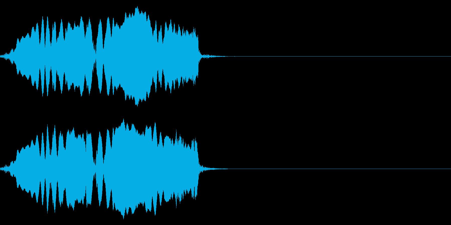 オカメインコの、悲しそうな声の再生済みの波形