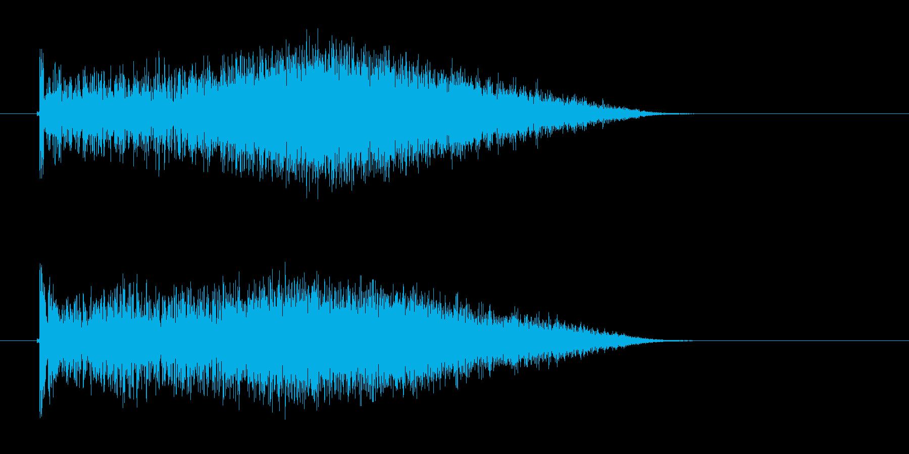 クォーー(風が吹き付けるような音)の再生済みの波形