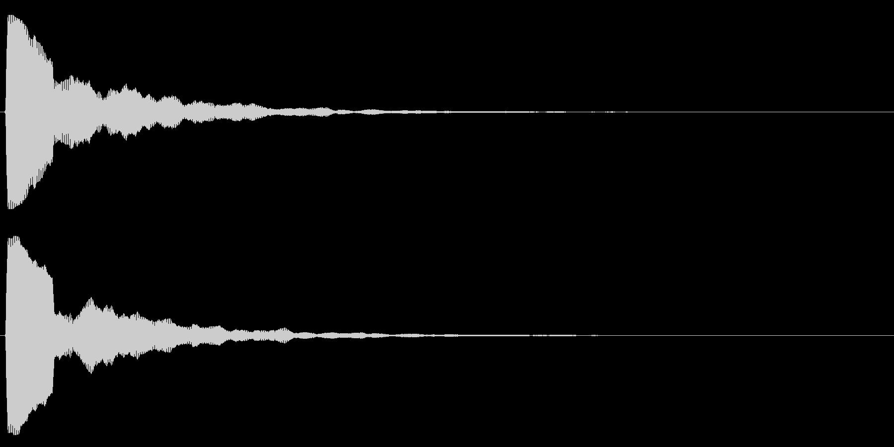 シンプル/決定音/綺麗の未再生の波形