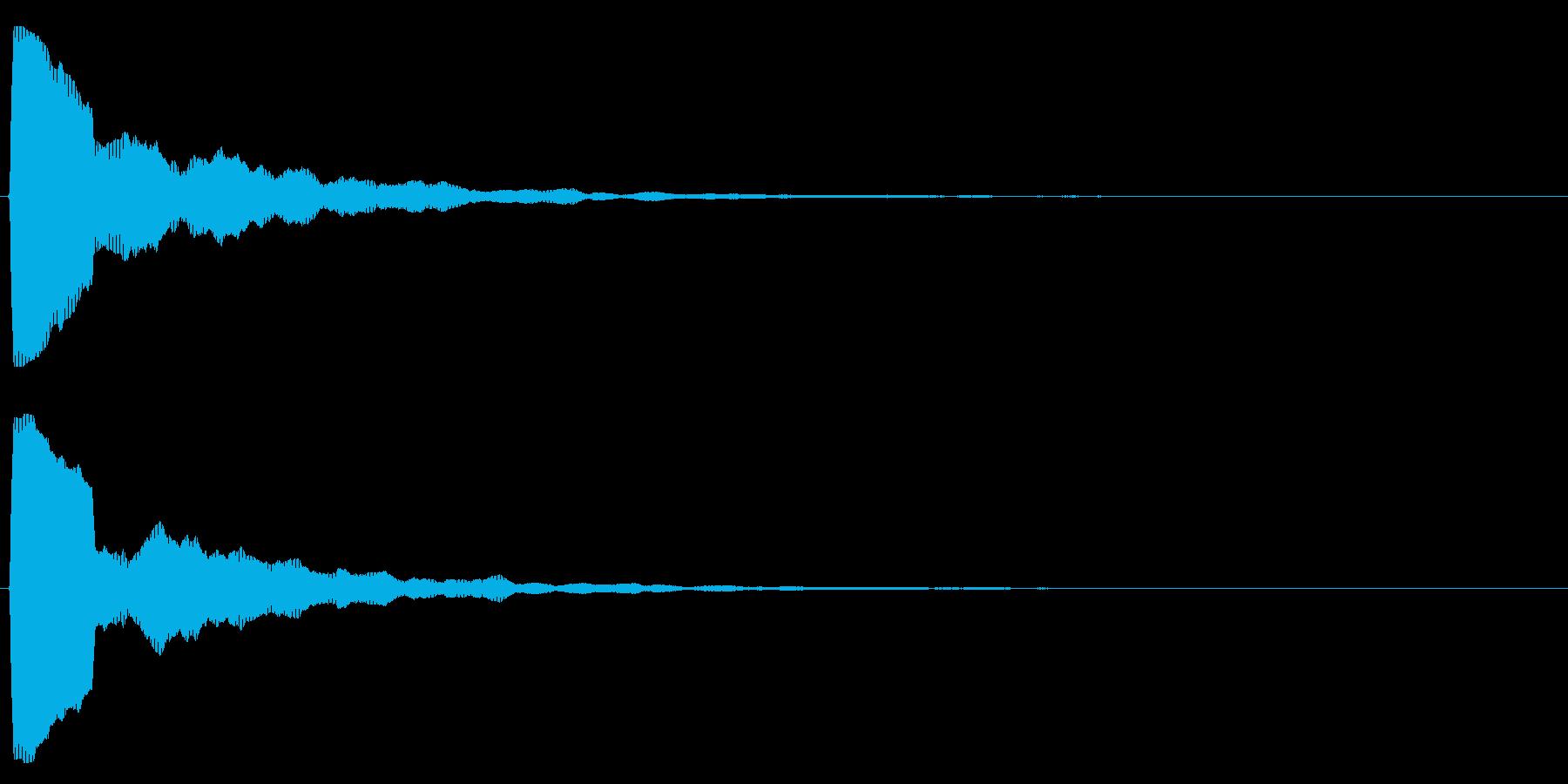 シンプル/決定音/綺麗の再生済みの波形