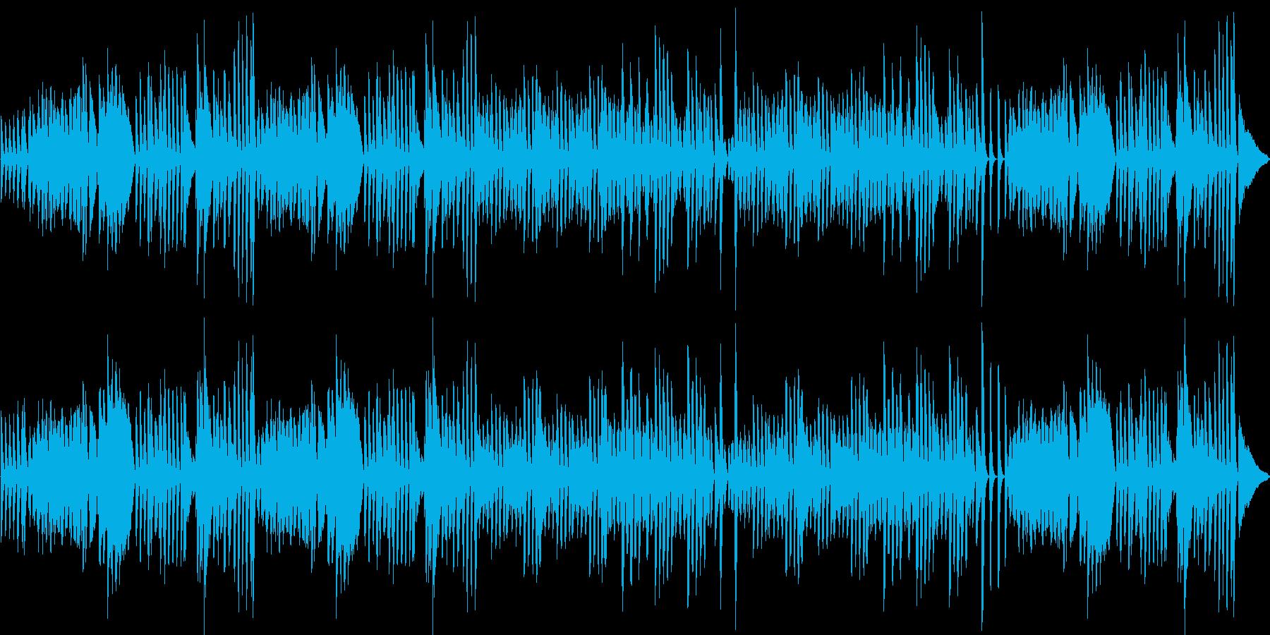 ピアノによる、陽気で楽しいラグタイムの再生済みの波形