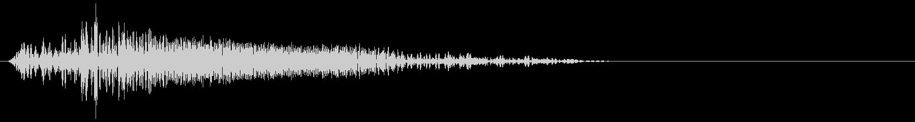 ゲーム掛け声ゾンビ1ノー2の未再生の波形