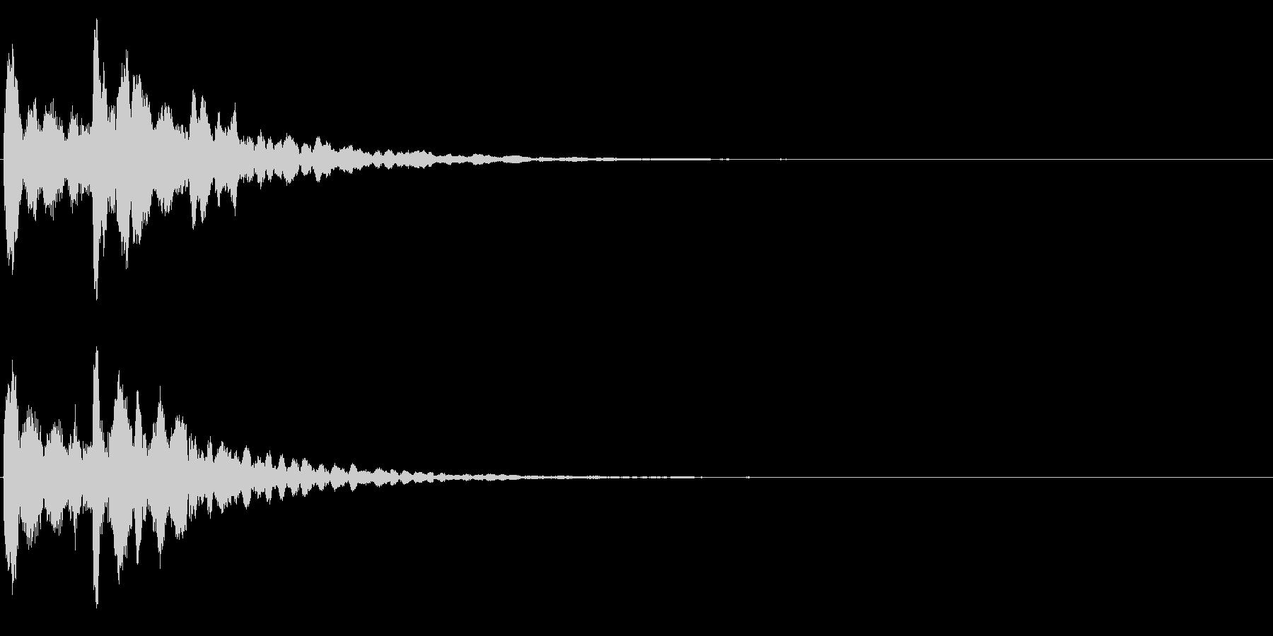 ゲームスタート、決定、ボタン音-139の未再生の波形