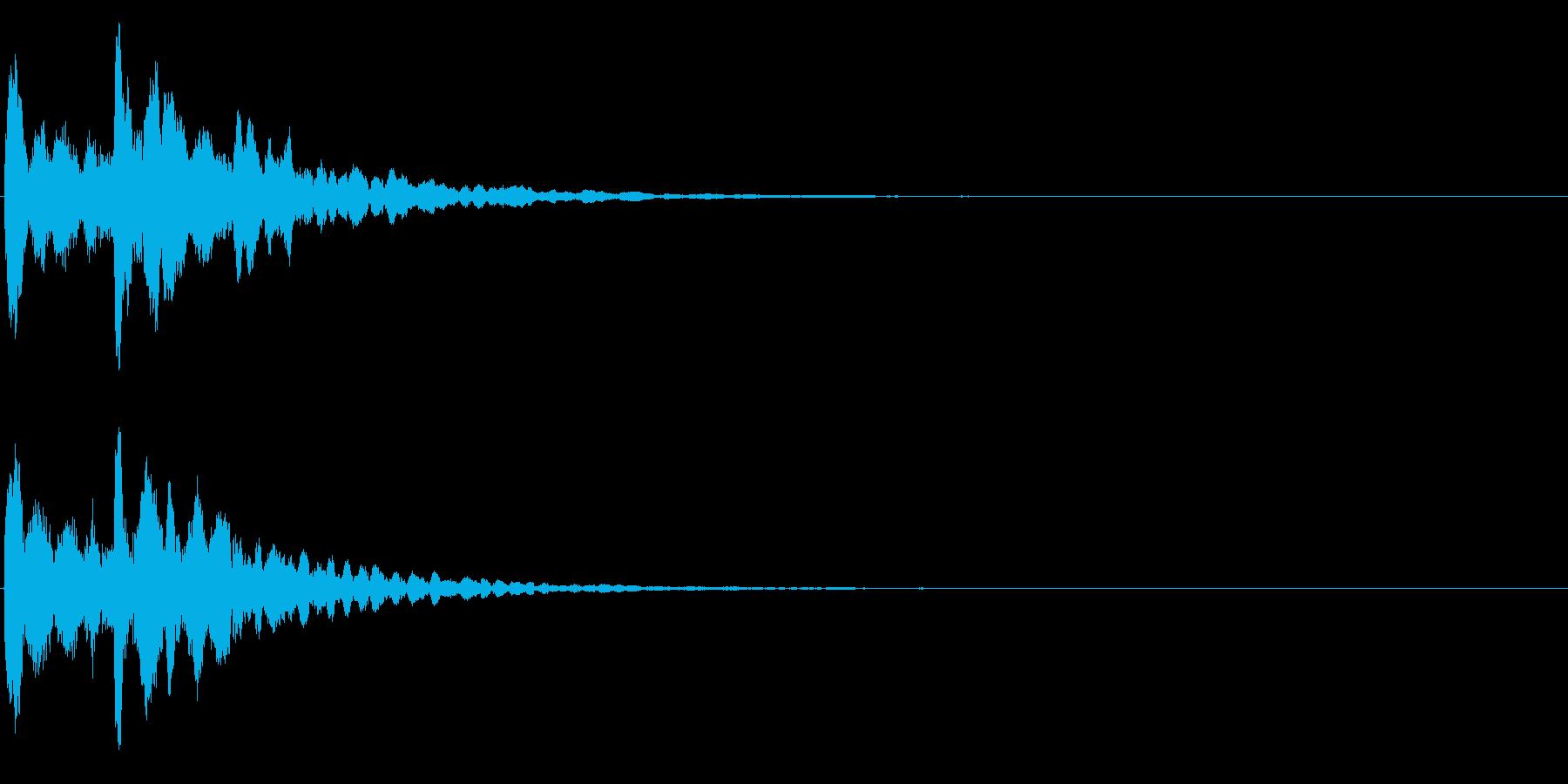 ゲームスタート、決定、ボタン音-139の再生済みの波形