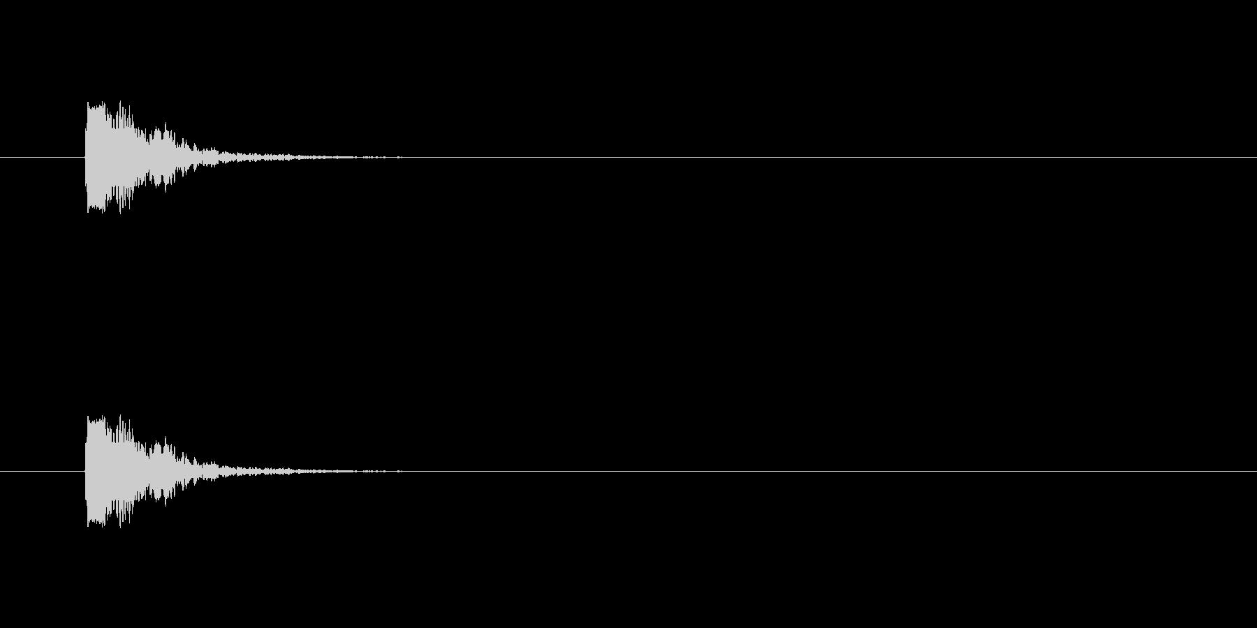 【ポンッ02-2】の未再生の波形