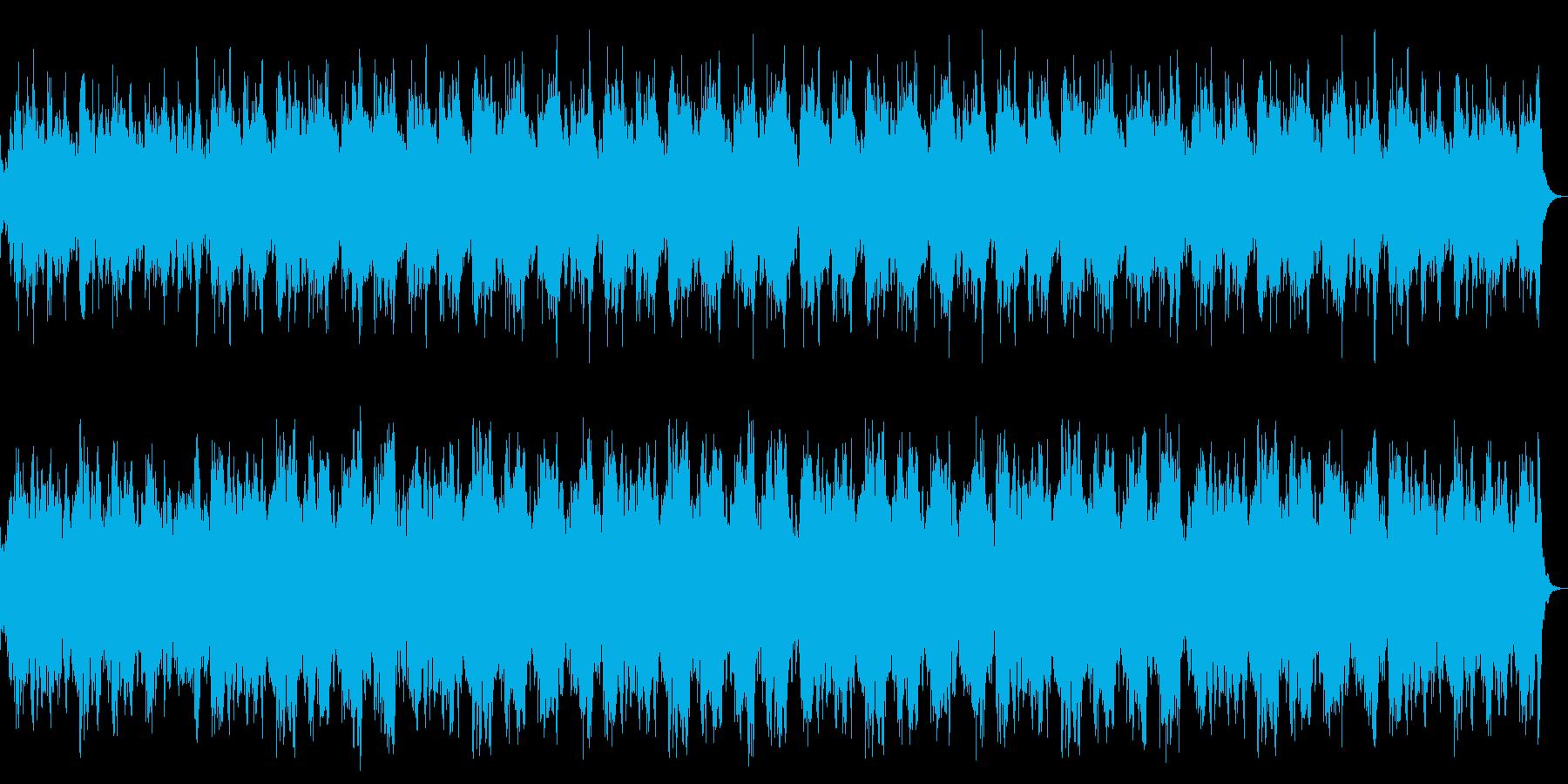ダーク、ホラー、恐怖の演出 ストリングスの再生済みの波形
