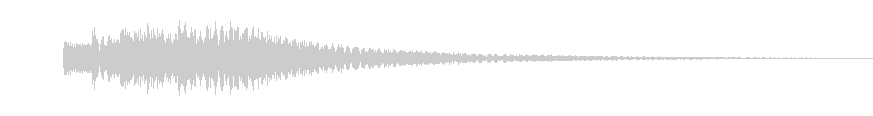 クイズ正解の未再生の波形