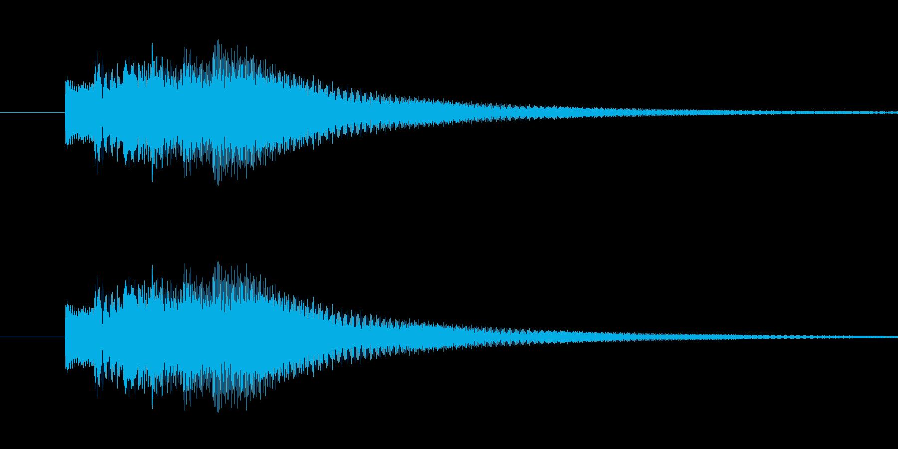 クイズ正解の再生済みの波形