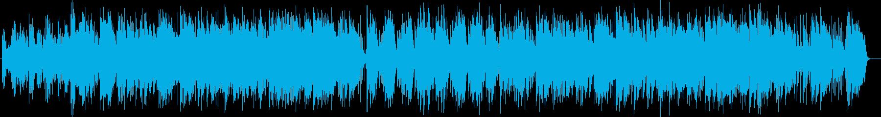 安心感のあるゆっくりしたテンポの曲の再生済みの波形