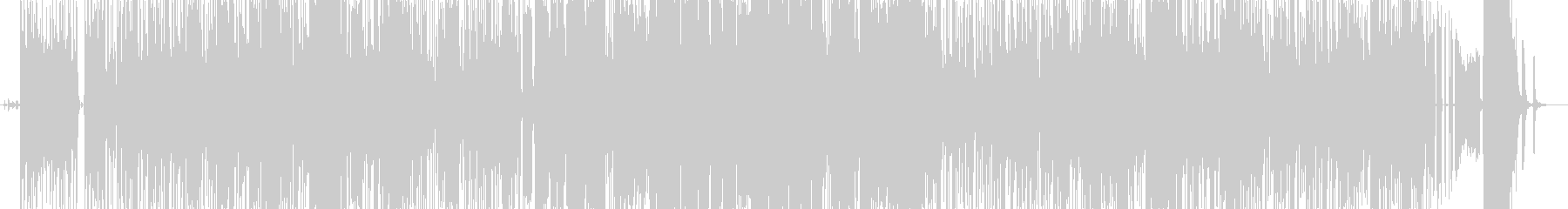 我が家の愛犬「ハナ」の曲の未再生の波形