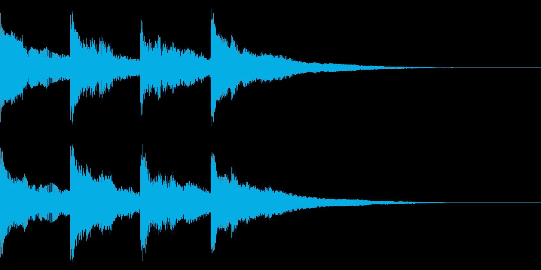 ピンポンパンポン↑ アナウンス 呼び出しの再生済みの波形