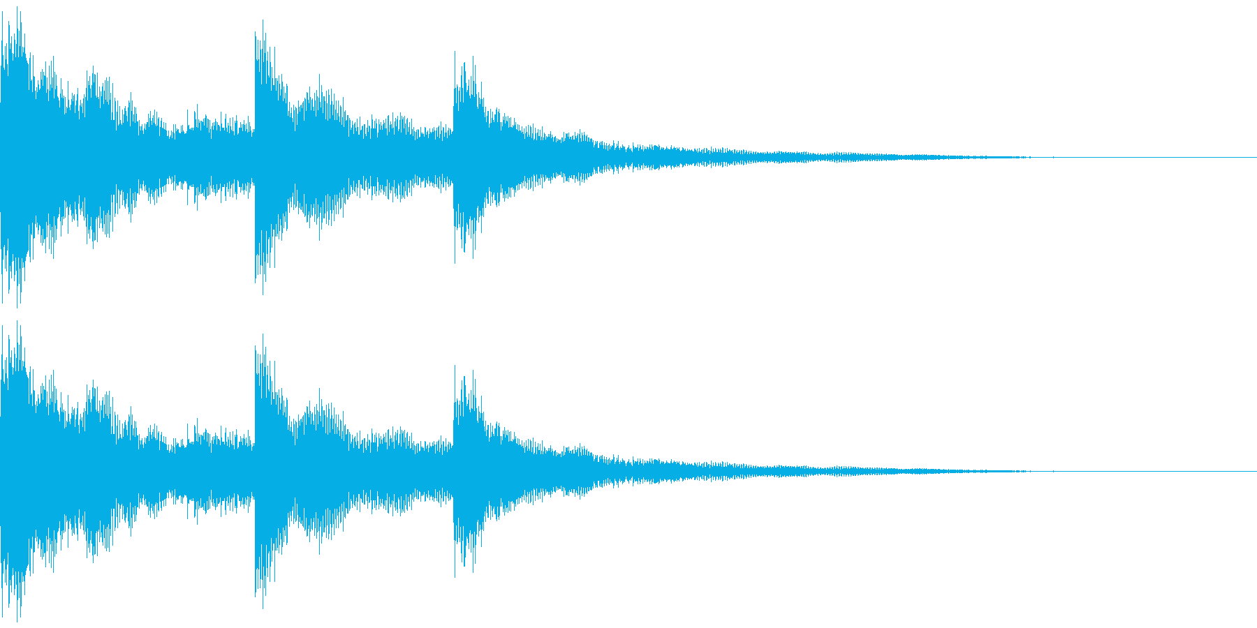 ウインドチャイム効果音(チュワリーン)の再生済みの波形