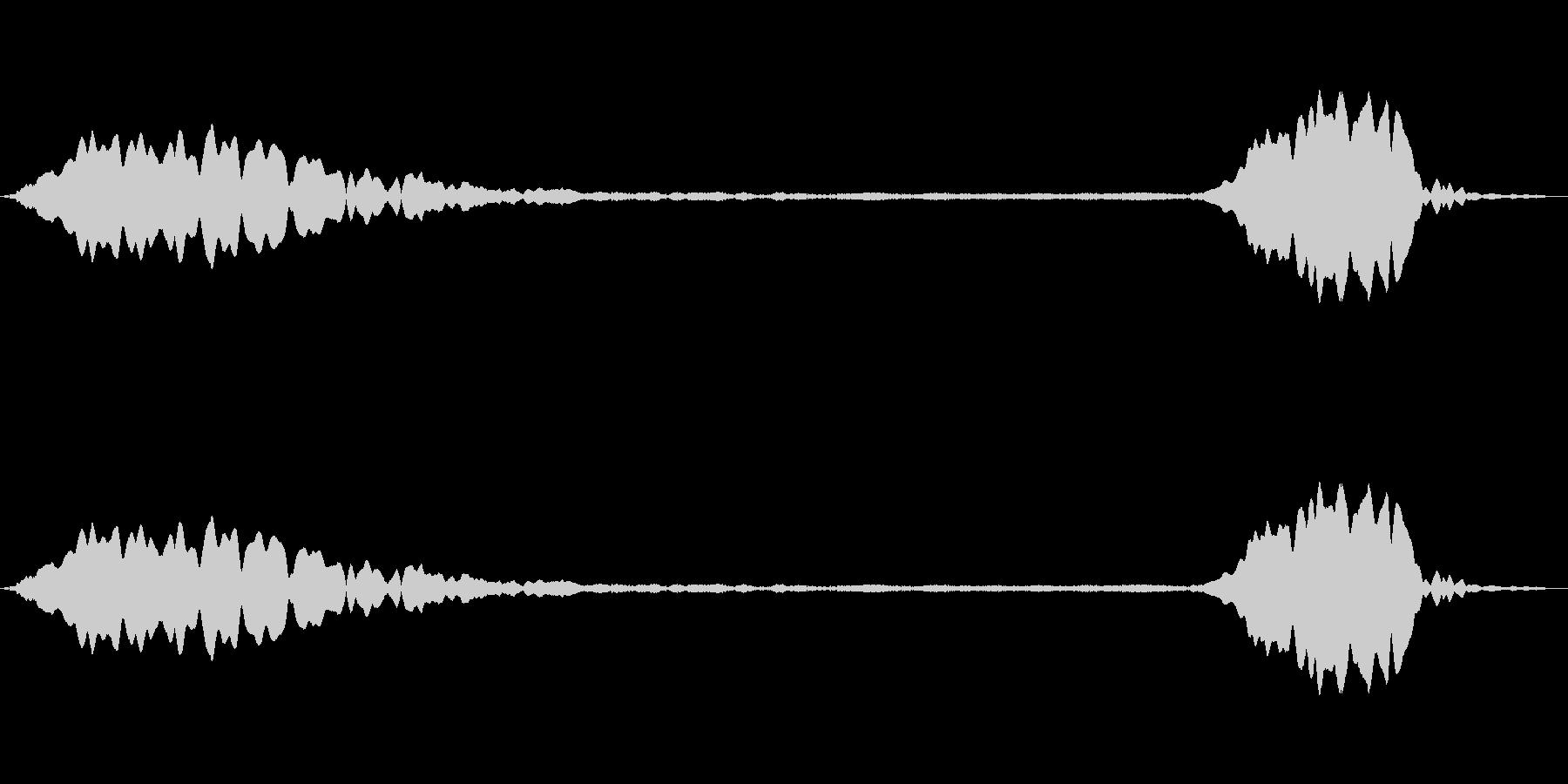 ピューピッ(ホイッスルの音)の未再生の波形
